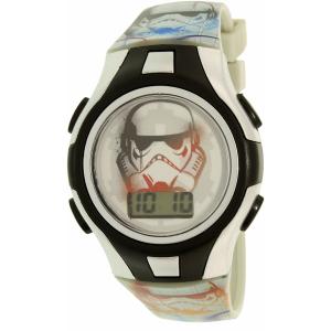 Disney Boy's Star Wars SWRKD012 Silver Resin Quartz Watch