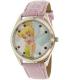 Disney Girl's Tinkerbell TNK612 Pink Leather Quartz Watch - Main Image Swatch