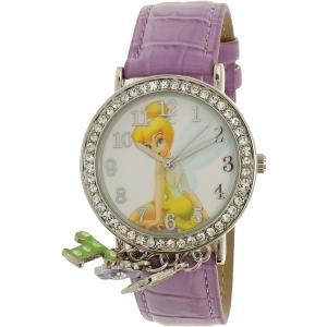 Disney Girl's Tinkerbell TNK509K Purple Leather Quartz Watch