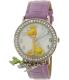 Disney Girl's Tinkerbell TNK509K Purple Leather Quartz Watch - Main Image Swatch