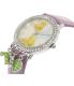 Disney Girl's Tinkerbell TNK509K Purple Leather Quartz Watch - Side Image Swatch