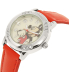 Disney Women's Mickey Mouse MCKAQ1089 Pucker Up Leather Analog Quartz Watch - Side Image Swatch