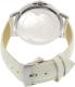Disney Women's Mickey Mouse MCK767 White Leather Analog Quartz Watch - Back Image Swatch