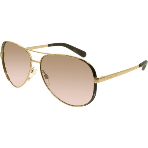 ce8f983d79d ... 5004 101414 Gold Chelsea Aviator Sunglasses Lens Category 2 UPC  725125941891 product image for Michael Kors Women s Gradient Chelsea MK5004- 101414-59 ...