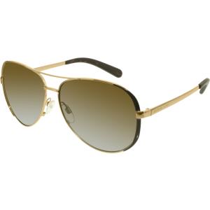 Michael Kors Women's Gradient Chelsea MK5004-1014T5-59 Bronze Aviator Sunglasses