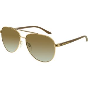 Michael Kors Women's Gradient Hvar MK5007-1043T5-59 Gold Aviator Sunglasses