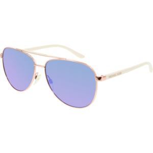 Michael Kors Women's Mirrored Hvar MK5007-104525-59 Rose Gold Aviator Sunglasses