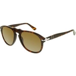 Persol Women's Polarized  PO0649-24/57-54 Tortoiseshell Aviator Sunglasses
