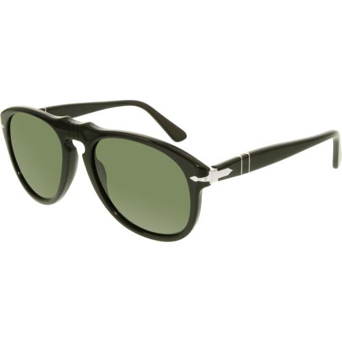 Persol Men's PO0649-95/31-54 Black Aviator Sunglasses