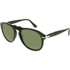 Persol Men's Polarized  PO0649-95/58-54 Black Aviator Sunglasses