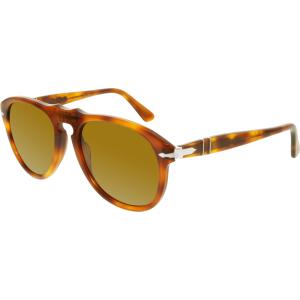 Persol Men's  PO0649-96/33-54 Tortoiseshell Square Sunglasses