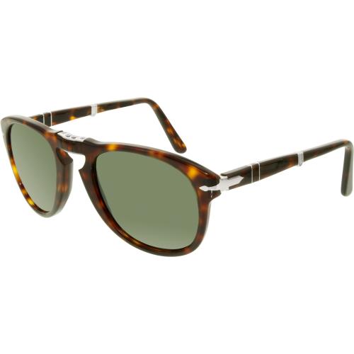 Persol Men's PO0714-24/31-52 Tortoiseshell Aviator Sunglasse