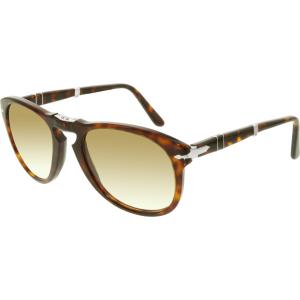 Persol Men's  PO0714-24/51-54 Tortoiseshell Aviator Sunglasses