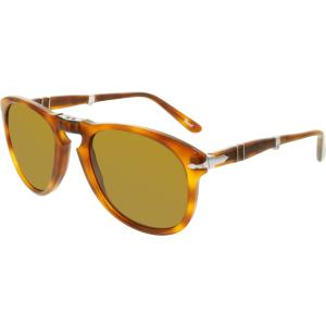 Persol Men's  PO0714-96/33-54 Tortoiseshell Aviator Sunglasses