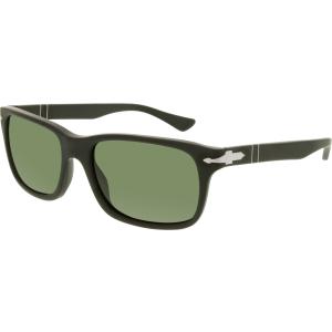 Persol Men's Polarized  PO3048S-900058-58 Black Rectangle Sunglasses