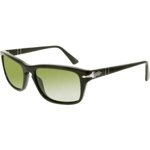 Persol Men's Polarized  PO3074S-95/P1-58 Black Rectangle Sunglasses