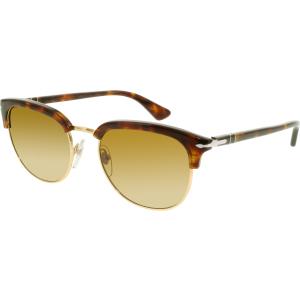 Persol Men's  PO3105S-24/33-51 Tortoiseshell Round Sunglasses