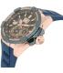 Seiko Men's SNP120 Blue Silicone Quartz Watch - Side Image Swatch