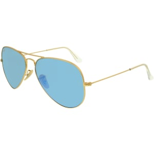 Ray-Ban Men's Polarized  RB3025-112/4L-58 Gold Aviator Sunglasses