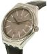 Swatch Men's Big YWS415 Black Leather Swiss Quartz Watch - Side Image Swatch