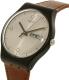 Swatch Men's New Gent SUOB721 Brown Leather Swiss Quartz Watch - Side Image Swatch