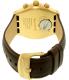 Swatch Men's Chrono YVG401 Brown Leather Swiss Quartz Watch - Back Image Swatch