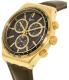 Swatch Men's Chrono YVG401 Brown Leather Swiss Quartz Watch - Side Image Swatch