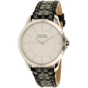 Coach Women's 14501524 Silver Leather Quartz Watch