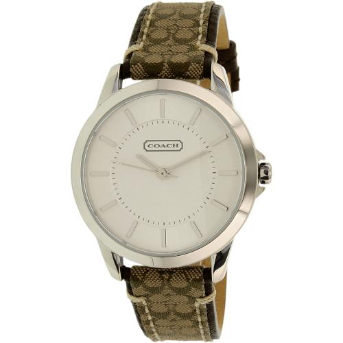 Coach Women's 14501525 Silver Leather Quartz Watch