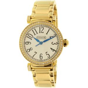 Coach Women's Madison 14501724 Gold Stainless-Steel Quartz Watch