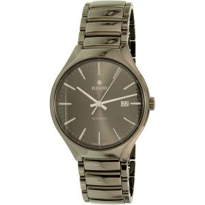 Rado Men's True R27057102 Gunmetal Stainless-Steel Swiss Automatic Watch