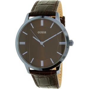 Guess Men's U0664G3 Brown Leather Quartz Watch