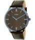 Guess Men's U0664G3 Brown Leather Quartz Watch - Main Image Swatch