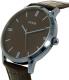 Guess Men's U0664G3 Brown Leather Quartz Watch - Side Image Swatch