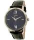 Guess Men's U0793G2 Black Leather Quartz Watch - Main Image Swatch