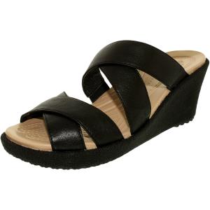Crocs Women's A-Leigh Crisscross Ankle-High Leather Sandal