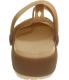 Crocs Women's Carlie Cutout Ankle-High Rubber Flat Shoe - Back Image Swatch
