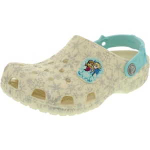 Crocs Girl's Kids Classic Frozen Ankle-High Rubber Flat Shoe