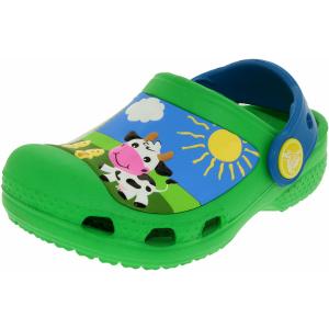 Crocs Boy's Kids Creative Crocs Barnyard Ankle-High Rubber Flat Shoe