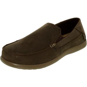 Crocs Men's Santa Cruz 2 Luxe Leather Loafer Ankle-High Canvas Flat Shoe