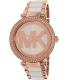 Michael Kors Women's Parker MK6365 Rose Gold Ceramic Quartz Watch - Main Image Swatch