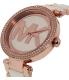 Michael Kors Women's Parker MK6365 Rose Gold Ceramic Quartz Watch - Side Image Swatch
