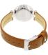 Skagen Women's Tanja SKW2458 Silver Leather Quartz Watch - Back Image Swatch