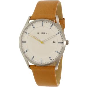 Skagen Men's Holst SKW6282 Silver Leather Quartz Watch