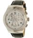 Swatch Men's Chrono YOS451 Black Leather Swiss Quartz Watch - Main Image Swatch