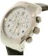 Swatch Men's Chrono YOS451 Black Leather Swiss Quartz Watch - Side Image Swatch