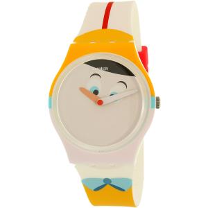 Swatch Women's Gent GW176 Multicolor Silicone Quartz Watch