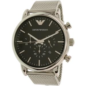 Emporio Armani Men's AR8032 Silver Stainless-Steel Quartz Watch