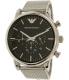 Emporio Armani Men's AR8032 Silver Stainless-Steel Quartz Watch - Main Image Swatch