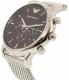 Emporio Armani Men's AR8032 Silver Stainless-Steel Quartz Watch - Side Image Swatch